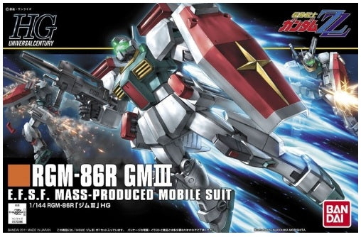 Gundam ZZ 1/144 HGUC #126 RGM-86R GM III E.F.S.F. Model Kit