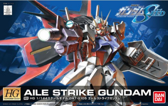 Gundam Seed 1/144 HG #R01 Aile Strike GAT-X105 Remaster Model Kit Remastered