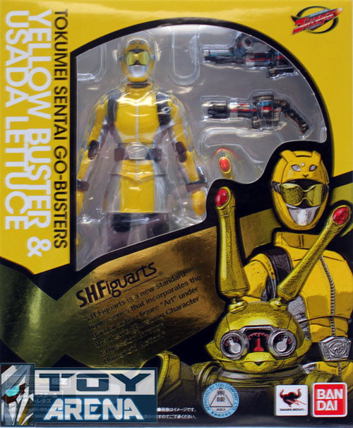 S.H. Figuarts Go-Busters Yellow Buster & Usada Lettuce Exclusive Tamashii