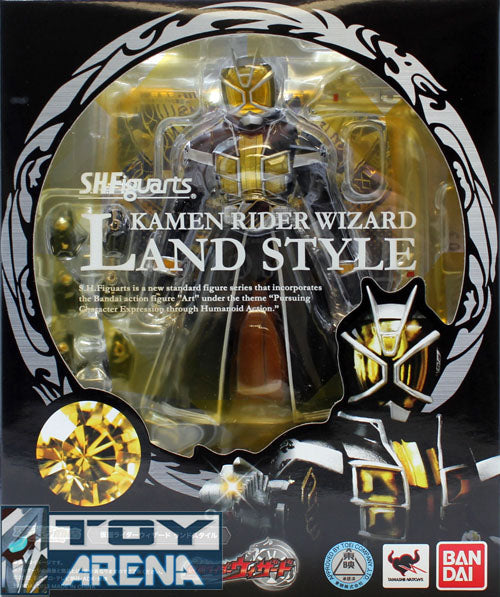 S.H. Figuarts Masked Kamen Rider Wizard Land Style Bandai Exclusive Action Figure
