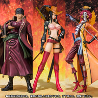 Figuarts Zero One Piece Film Z Roronoa Zoro Nico Robin Brook Battle Cloth Ver. Bandai Exclusive Set