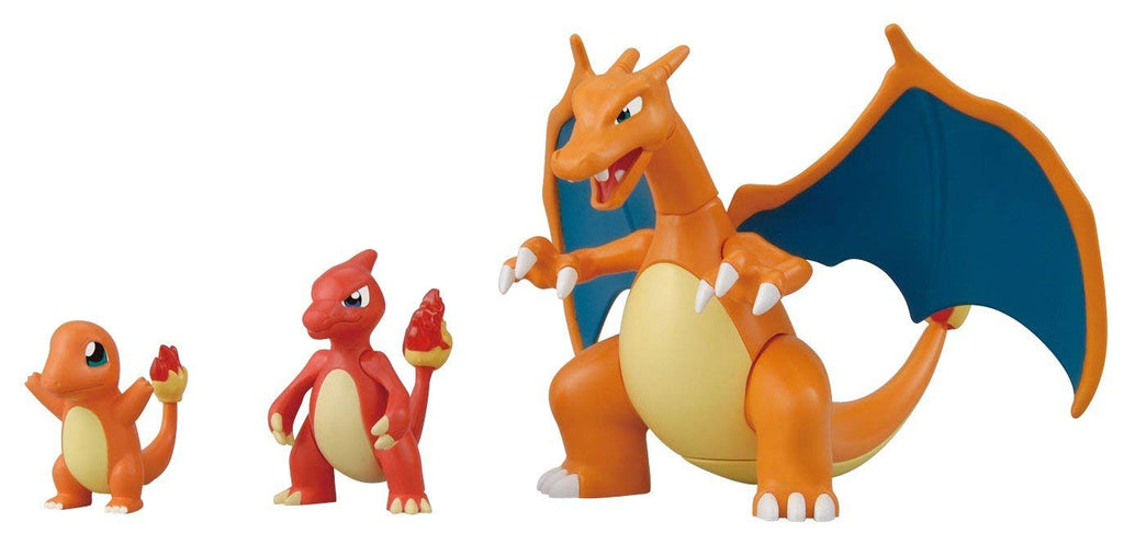 Bandai Pokemon Model Kits Charizard Evolution Set Model Kit