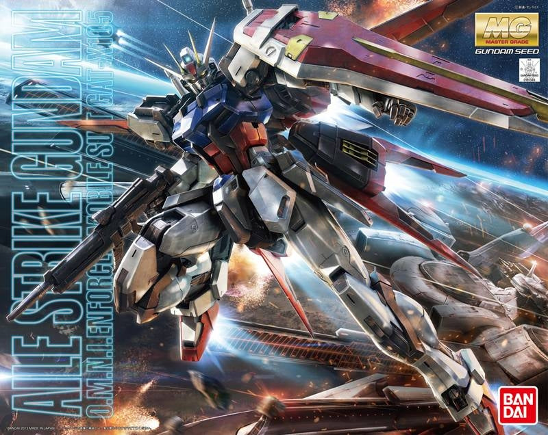 Gundam Seed HD 1/100 Remaster MG Aile Strike O.M.N.I Enforcer GAT-X105 Ver. RM Model Kit