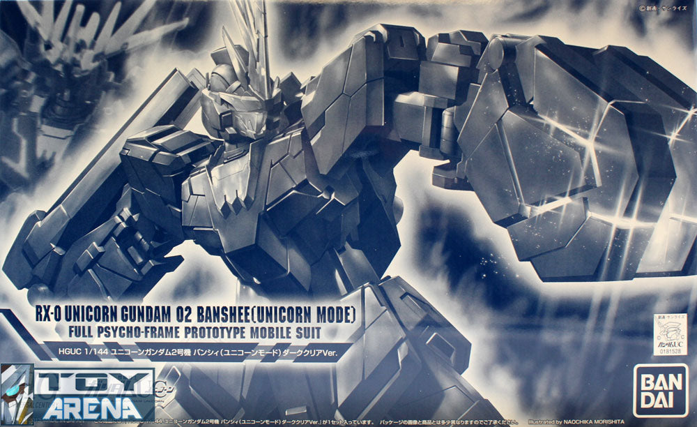 Gundam Unicorn 1/144 HGUC RX-0 Unicorn Gundam 02 Banshee Unicorn Mode Dark Clear Version Model Kit Limited Bandai Exclusive