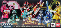 S. H. Figuarts Power Rangers Super Samurai Metallic Coating Deluxe Action Figure Set SDCC 2013 Exclusive