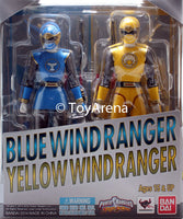 S.H. Figuarts Power Rangers Ninja Storm Blue Wind Ranger & Yellow Wind Ranger Set Action Figure