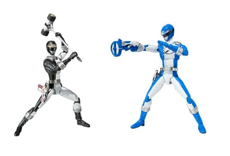 S.H. Figuarts Power Rangers Operation Overdrive Blue & Black Rangers (2 Pack)