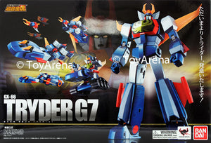 Soul of Chogokin Tryder G7 Trider Action Figure (Item has Shelfware and the box is NOT Mint)