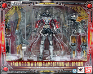 S.I.C. Masked Kamen Rider Wizard Flame Dragon & All Dragon Set (Item has Shelfware)