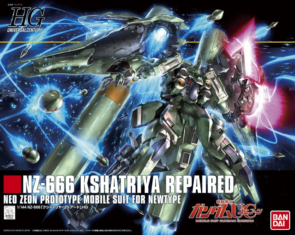 Gundam Unicorn 1/144 HGUC #179 NZ-666 Kshatriya Repaired Mobile Suit For Newtype Model Kit