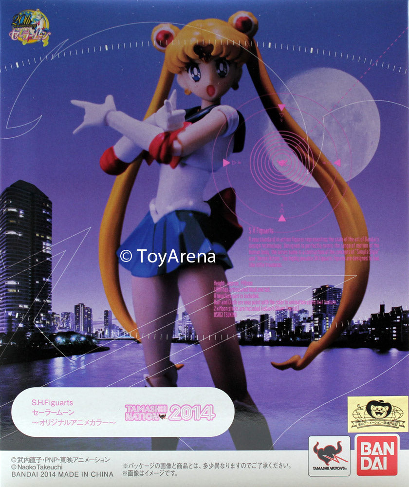 S.H. Figuarts Sailor Moon Original Anime Color Action Figure Tamashii 2014 Exclusive