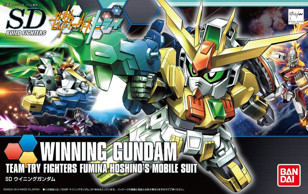 Gundam Build Fighters Try SDBF #023 Winning Gundam Fumina Hoshino Custom Made Mobile Suit Model Kit