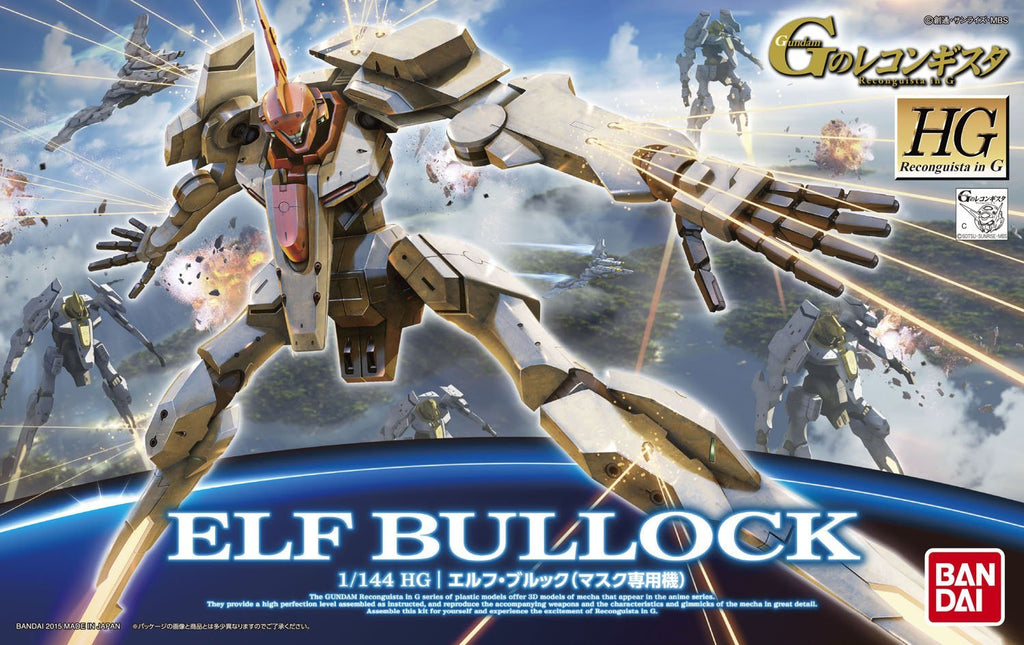 Gundam Reconguista G 1/144 HG #08 Elf Bullock Model Kit