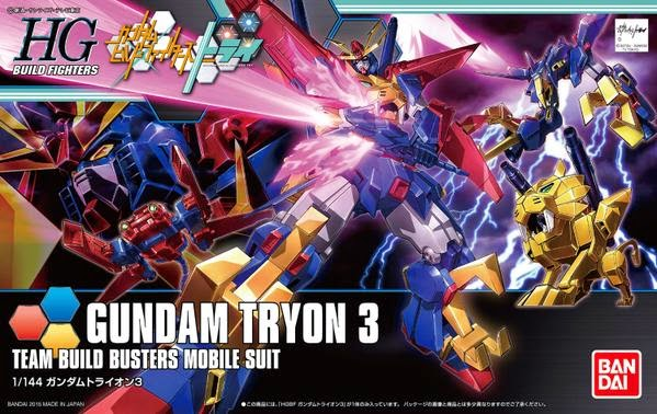 Gundam Build Fighters Try HGBF #038 Gundam Tryon 3 Team Build Busters Mobile Suit 1/144 Model Kit