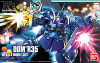 Gundam Build Fighters Try HGBF #039 Dom R35 Ral Custom Mobile Suit 1/144 Model Kit