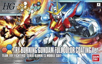 Gundam Build Fighters Try Try Burning Gundam Sekai Kamiki Full Color Coating Ver. 1/144 Model Kit Exclusive