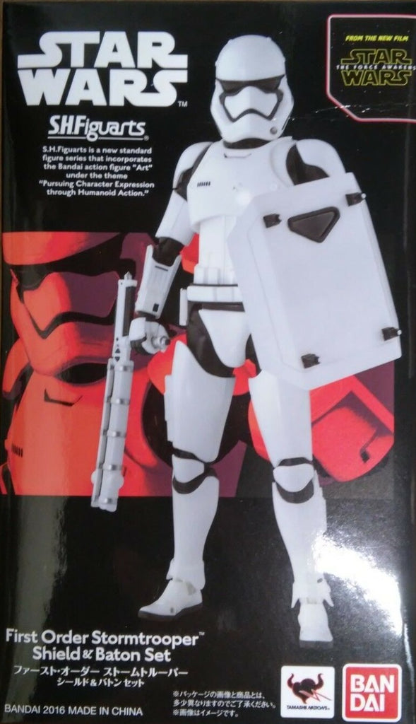 S.H. Figuarts First Order Stormtrooper (Shield & Baton) (First Order Riot Trooper) Star Wars The Force Awakens Action Figure