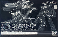 Gundam PG 1/60 Expansion Unit Armed Armor VN/BS for PG Rx-0 Unicorn Gundam 02 Banshee Perfect Grade Model Kit Exclusive