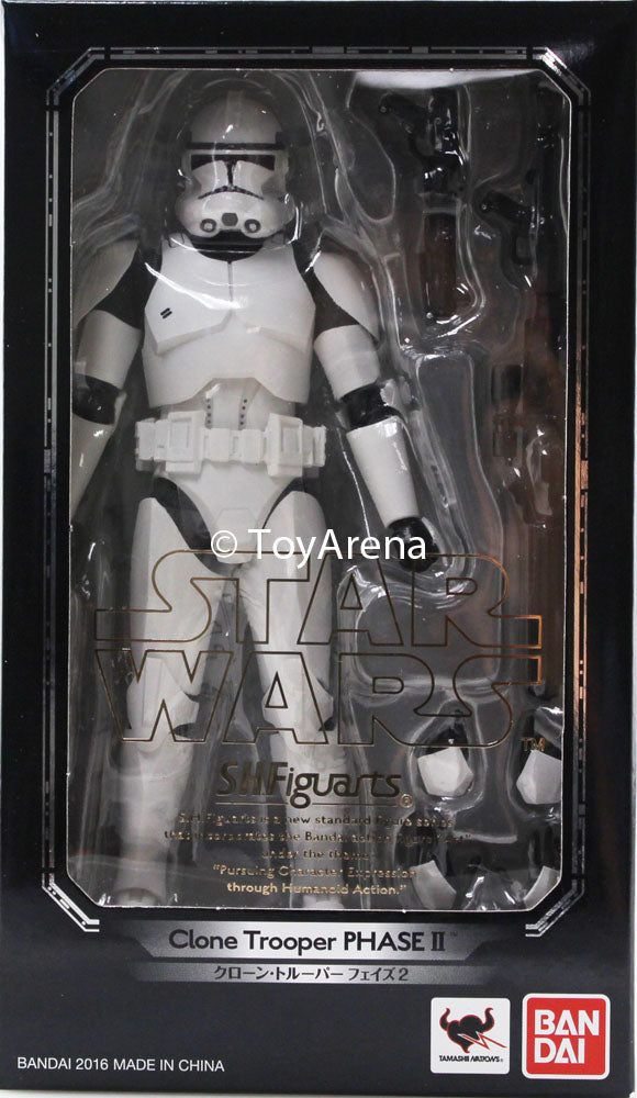S.H. Figuarts Clone Trooper Phase II Star Wars Episode III Revenge Of The Sith Figure