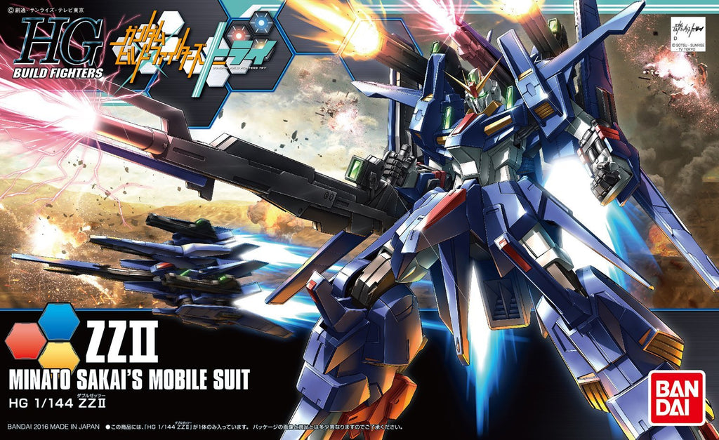 Gundam Build Fighters Try HGBF #045 ZZII ZZ 2 Double Zeta Minato Sakai's 1/144 Model Kit