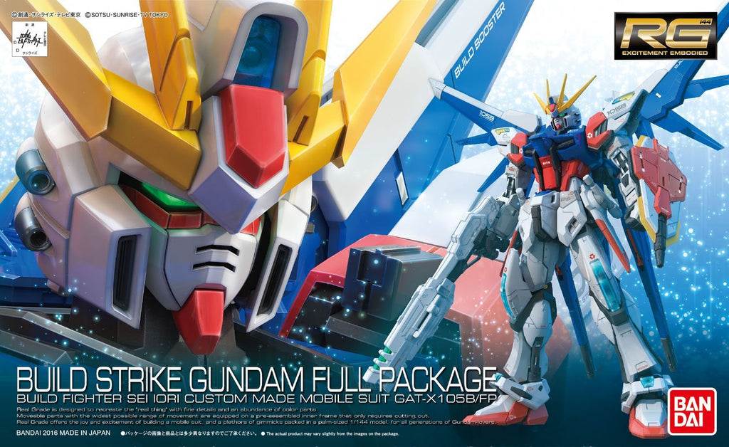 "Gundam 1/144 RG #23 Build Strike Gundam Full Package ""Build Fighters"" Model Kit"