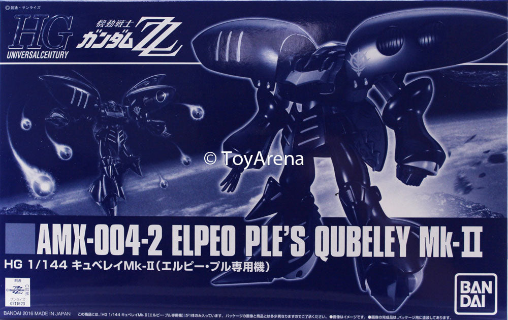 Gundam 1/144 HGUC ZZ Gundam Elpeo Ple's Quebeley MK-II Model Kit Exclusive