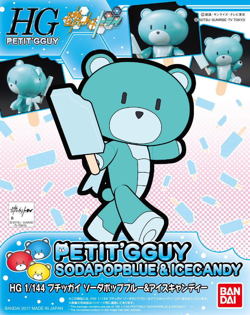 Gundam Build Fighters HG Beargguy #13 Petit'Gguy SodapopBlue & Ice Candy HGPG Model Kit