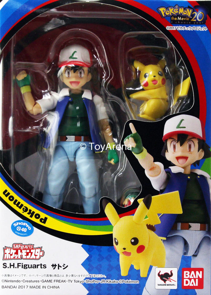 S.H. Figuarts Pokemon The Movie 20 Ash Ketchum and Pikachu