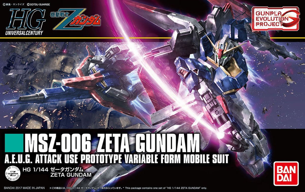 Gundam 1/144 HGUC #203 Zeta Gundam Evolution Project Model Kit