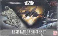 Star Wars 1/144 and 1/350 Scale Resistance Vehicle Set Star Wars Episode VIII The Last Jedi Model Kit