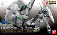 Gundam 1/144 RG #25-SP Unicorn Gundam RX-0 Premium Unicorn Mode Box Model Kit