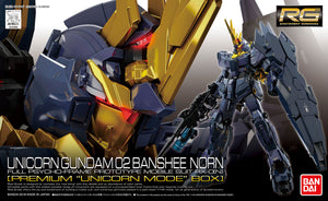 Gundam 1/144 RG #27-SP Gundam Unicorn RX-0[N] Unicorn Gundam 02 Banshee Norn Premium Unicorn Mode Box Model Kit
