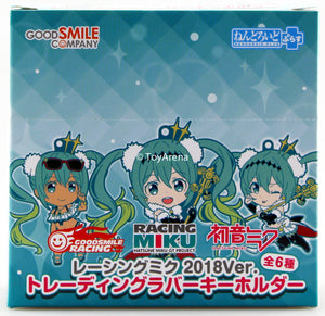 Good Smile Company Nendoroid PlusRacing Miku 2018 Keychian Set of 6