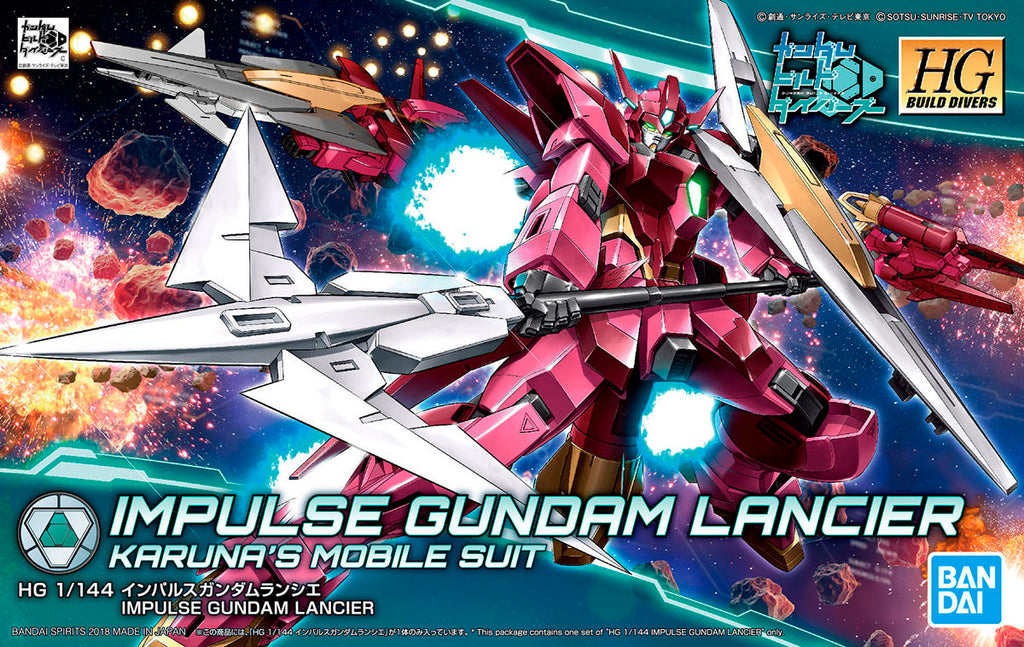 Gundam 1/144 HGBD #018 Gundam Build Divers Impulse Gundam Lancier Model Kit