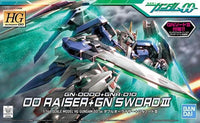Gundam 1/144 HG 00 #54 GN-0000 + GNR-010 00 Raiser Gundam + GN Sword III Model Kit