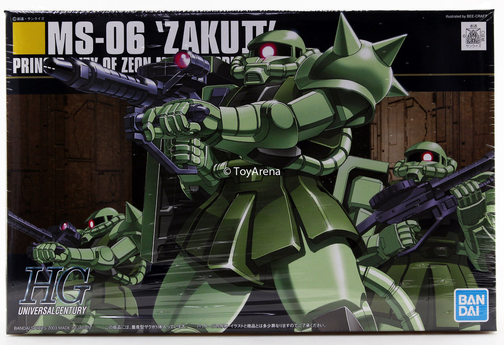 Gundam 1/144 #040 HGUC MS-06 Zaku II Mass Production Type Model Kit