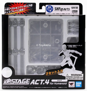 Tamashii Stage Act 4 for Humanoid Clear Stand Pack of 3