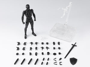 S.H. Figuarts Man Male Body Kun Solid Black Color Ver. DX Set 2 Action Figure