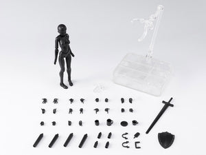 S.H. Figuarts Woman Female Body Chan Solid Black Color Ver. DX Set 2 Action Figure