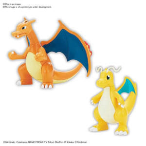 Bandai Pokemon Charizard & Dragonite Model Kit Set