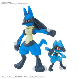 Bandai Pokemon Riolu & Lucario Model Kit Set