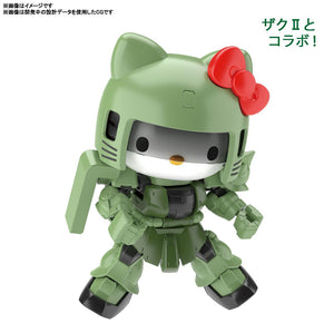 Gundam SDCS Cross Silhouette Hello Kitty X MS-06 Zaku II Model Kit