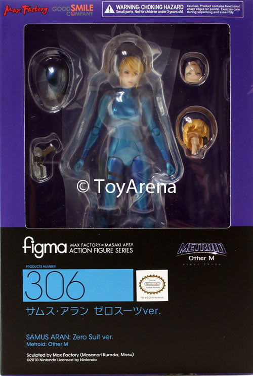 Figma #306 Samus Aran: Zero Suit Metroid: Other M
