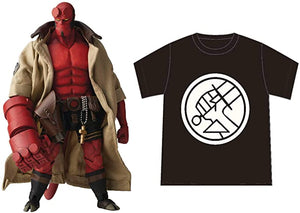 1000toys (Sen-Toys) Hellboy 1/12 with PX Preview Exclusive BPRD Shirt Action Figure