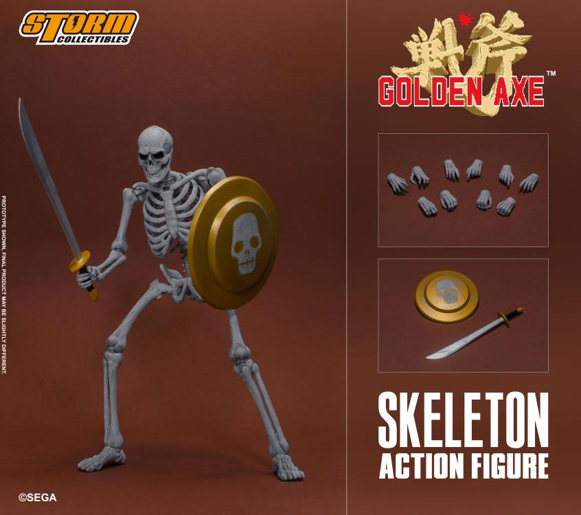 Storm Collectibles 1/12 Golden Axe Skeleton 2-Pack Action Figures