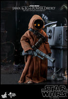 Hot Toys 1/6 Star Wars ANH Jawa & EG-6 Power Droid 1/6 Scale Collectible Figure Two-Pack MMS554 Action Figure 6