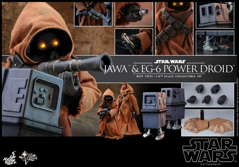 Hot Toys 1/6 Star Wars ANH Jawa & EG-6 Power Droid 1/6 Scale Collectible Figure Two-Pack MMS554 Action Figure 1