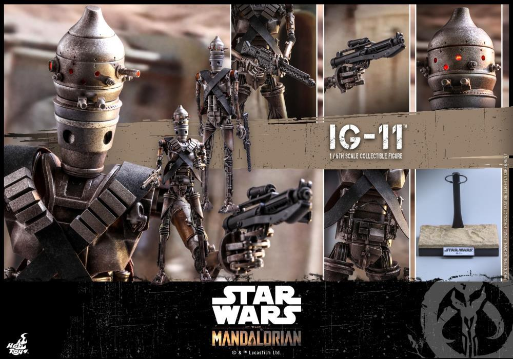 Hot Toys 1/6 Star Wars The Mandalorian 1/6 IG-11 Scale Collectible Figure TMS008 Action Figure 1