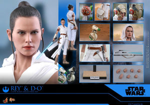 Hot Toys 1/6 Star Wars Episode IX The Rise of Skywalker Rey & D-O Sixth Scale Figure MMS559 1