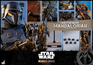 Hot Toys 1/6 Star Wars The Mandalorian Heavy Armor Mandalorian Sixth Scale Figure TMS010 1